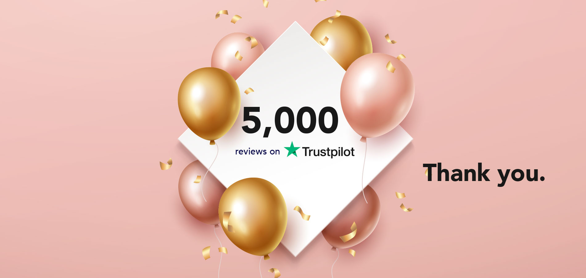 5,000 Reviews on Trustpilot!