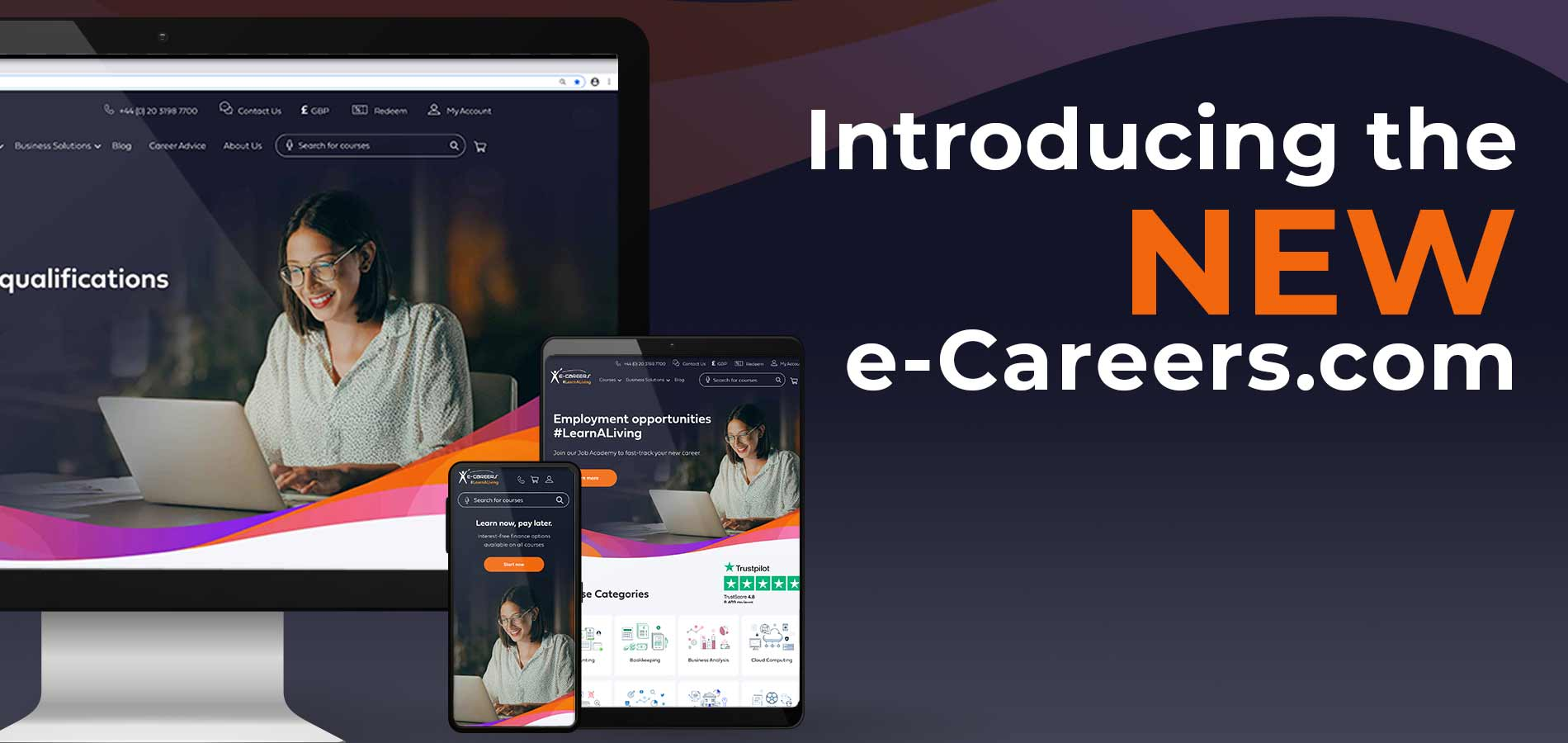 Introducing the launch of our new e-Careers website