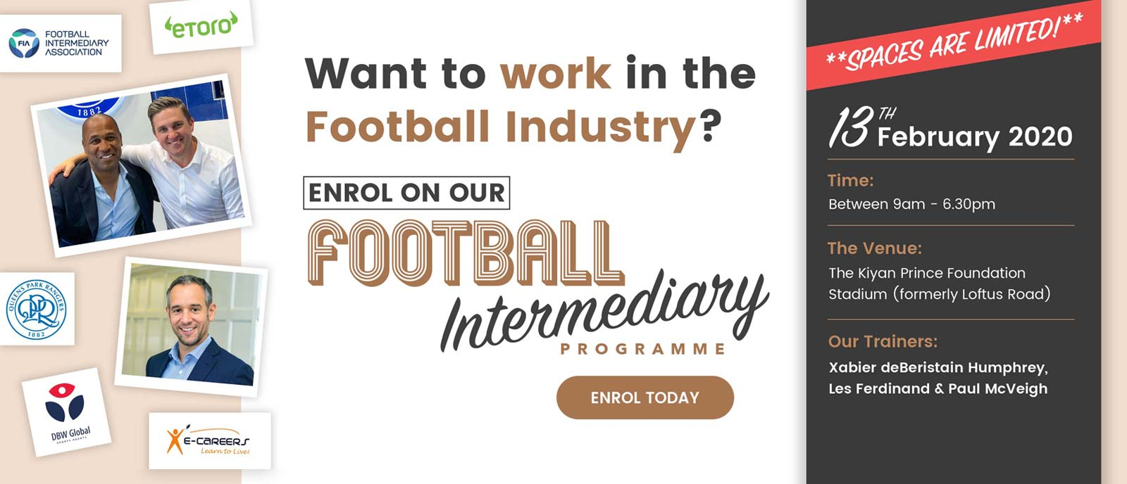 Football Intermediary Banner