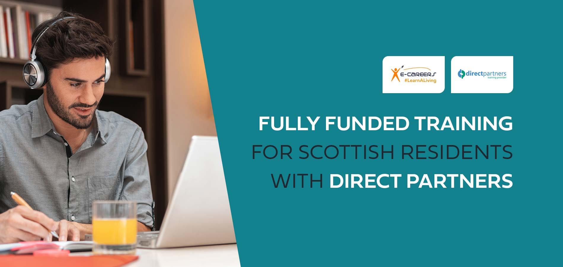 Proud to partner with Direct Partners to provide fully funded training in Scotland