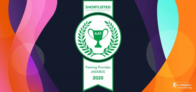 Shortlisted: 'AAT Distance Learning Training Provider of the Year award 2020'