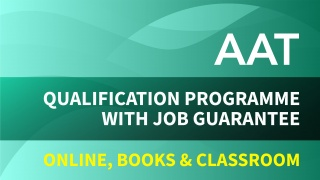 AAT Qualification Programme with Job Guarantee
