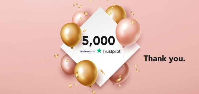 5,000 Reviews on Trustpilot!