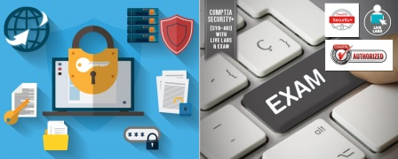 Official CompTIA Security+ (SY0-401) Training with Live Labs & Official Exam
